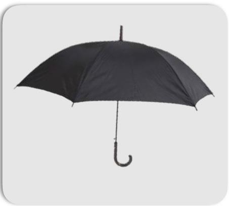 不透明ビニール傘エンボス黒