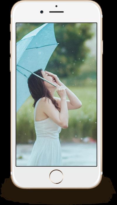 雨にちなんだテーマや傘を使ったテーマの写真や動画を撮る